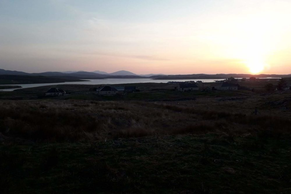 Hebridean Holiday Cabins Sunset